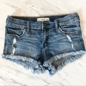 Abercrombie & Fitch Frayed Hem Cutoff Jean Shorts